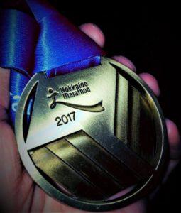 北海道マラソンのメダル