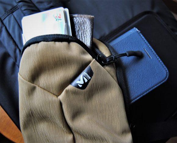 ポケットは2つあります。MILLET VARIETE POUCH