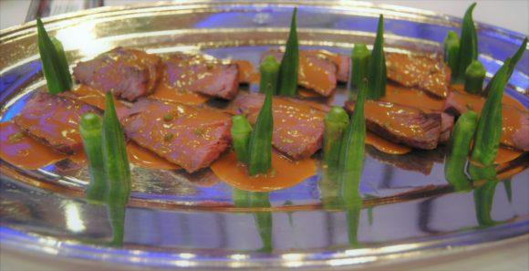 牛肉のグリル 実山椒風味ソース