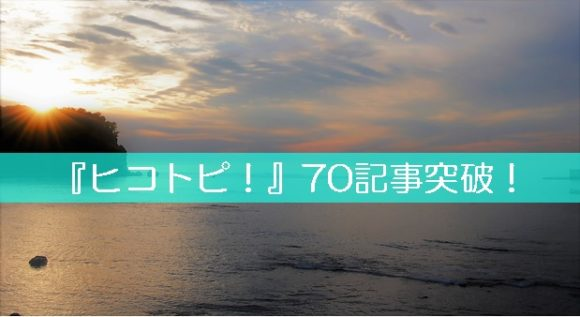 ワードプレスで作成したブログが『70記事突破!』PV数などご報告♪
