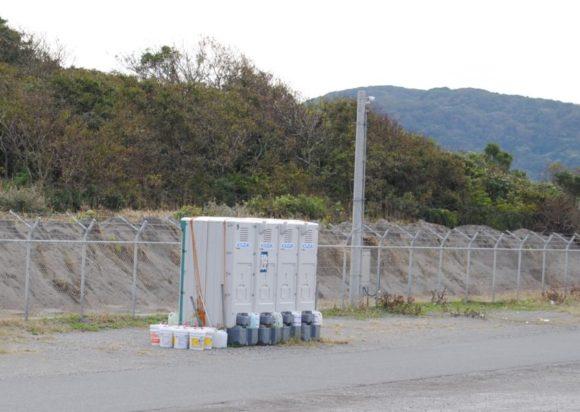 仮設トイレも近くにあるので、ファミリーでも来れますね。