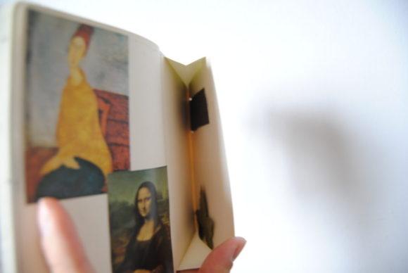 モディリアーニやモナリザの絵をスクラップ。絵のモチベーションが高まるかも?