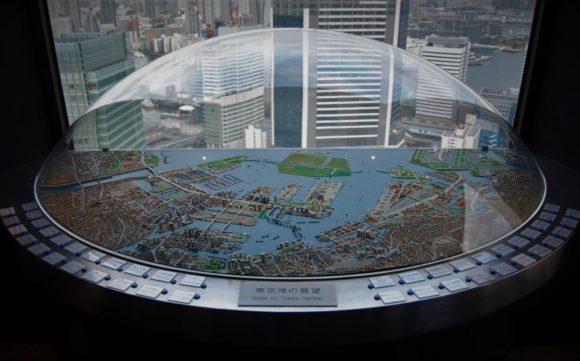 東京港のミニチュア模型
