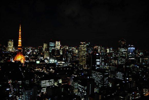 貿易センターから撮影した夜景