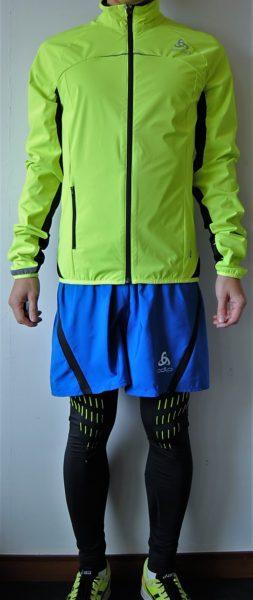 ODLOで全身装備(ジャケット、ショートパンツ、ロングタイツ)