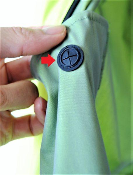 ポケット裏から見るとこんな感じ。