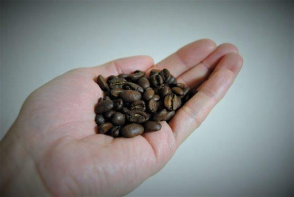 コーヒー豆一握り分をセットします。