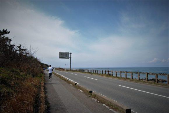 海岸沿いはランナーの姿もちらほら。気持ちのいいランニングコースです。