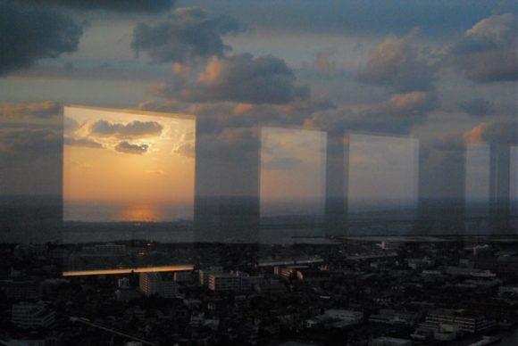 朱鷺メッセ展望台から撮影。