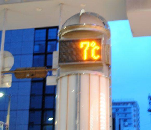 2019年3月下旬、朝5時。気温は7度!