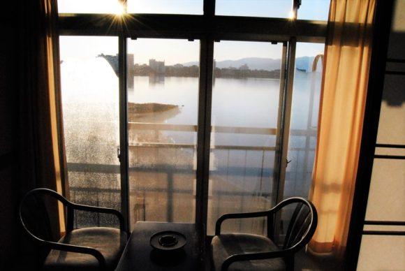 加茂湖の朝。