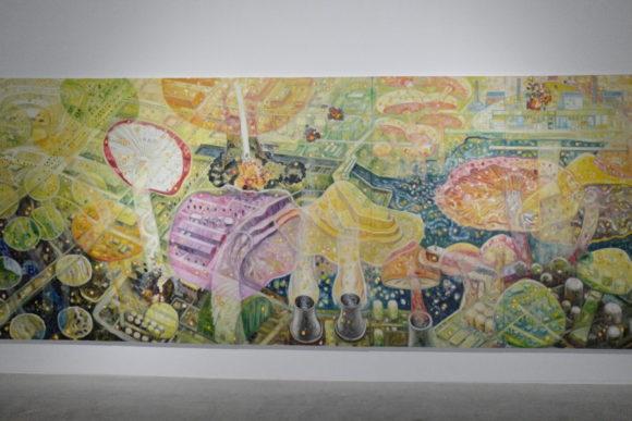 《キノコの森》2016.油彩/キャンバス 227 × 555 cm 作家蔵