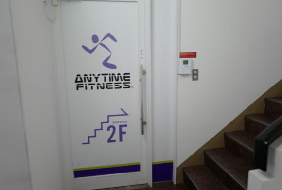 2階にジムがあります。