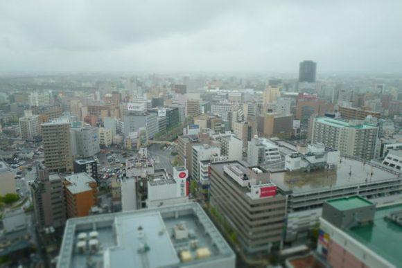 新潟駅方面の様子。