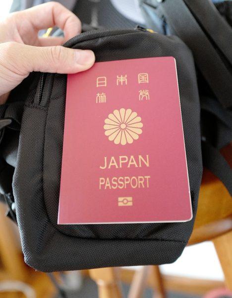パスポートも入るサイズだけど、ウェストポケットに入れるのはさすがに不安。