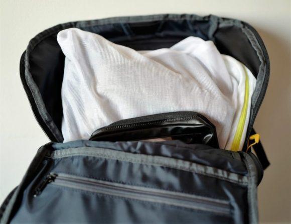 衣類は洗濯ネットにまとめてスッポリ収納。