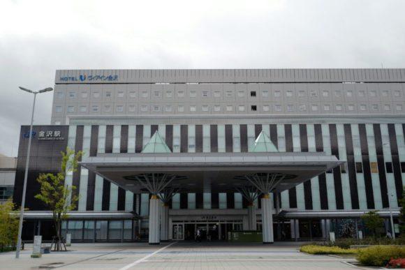 金沢駅・西口。