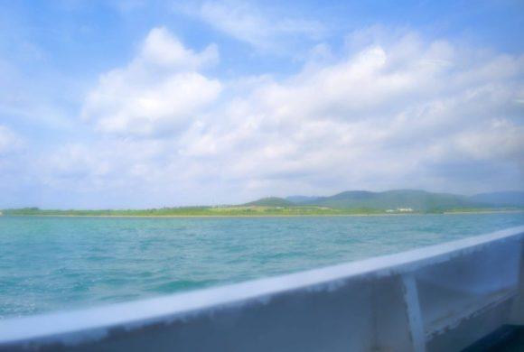 あれは竹富島かな?