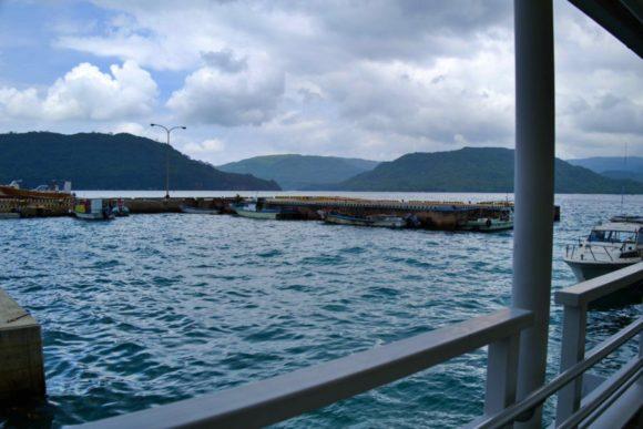 雲の流れが速く、西表島は天候が変わりやすいのかな?