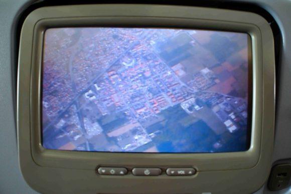 復路の便では機外カメラがあった。