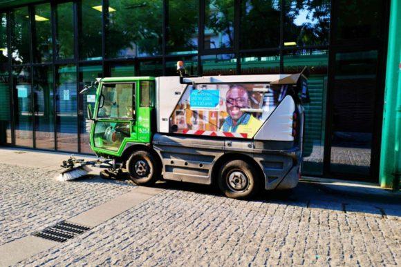 ミラノの清掃車。