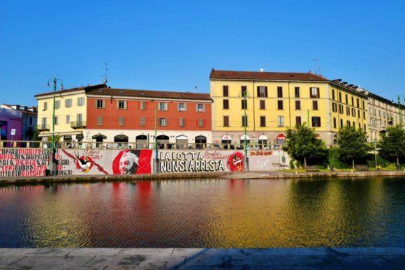 グラフィティアートも運河には似合わないな。