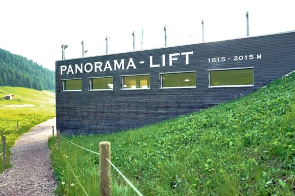 パノラマへ行けるリフト。