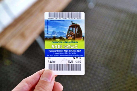 無事購入できたチケット(14.9ユーロ)