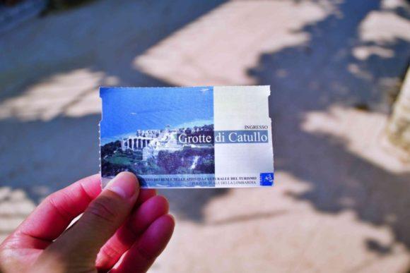 シルミオーネの遺跡のチケット。