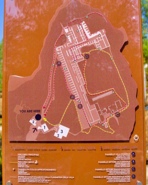 シルミオーネの遺跡の地図。