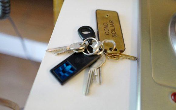 鍵がたくさんついているルームキー