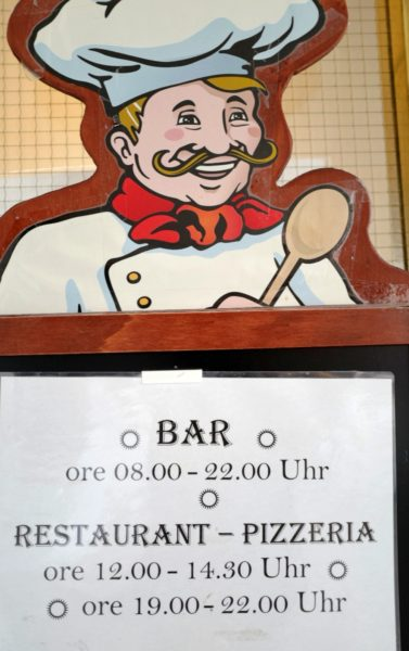 レストランの営業時間。