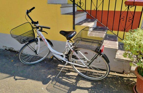 借りた自転車。