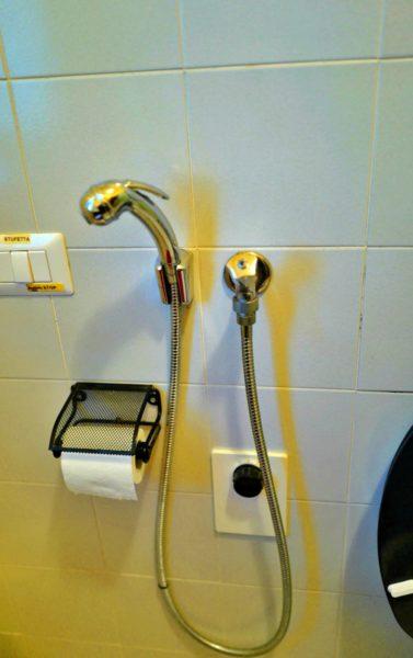 トイレ横のシャワー。