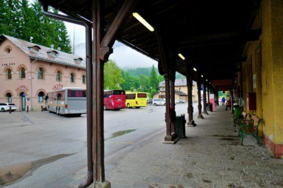 バス乗り場。各バス会社が集結する。行き先確認はしっかりと行おう。