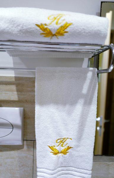 タオルはふわふわで気持ちがいい