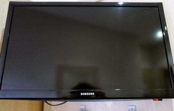 薄型テレビ。