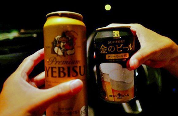 もちろん私がエビスビールだ。ぶはは