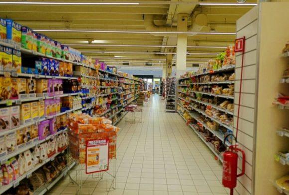 イタリアのスーパー・ファミアの店内の様子