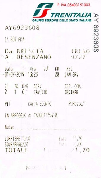 21.7€の罰金。2600円くらいだ。