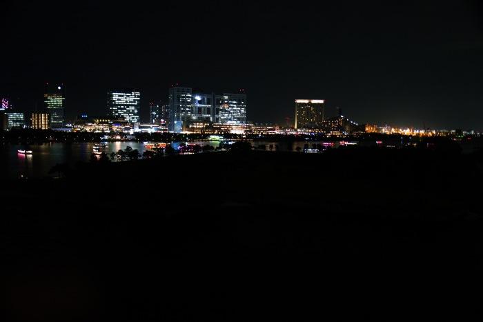 お台場の夜景。
