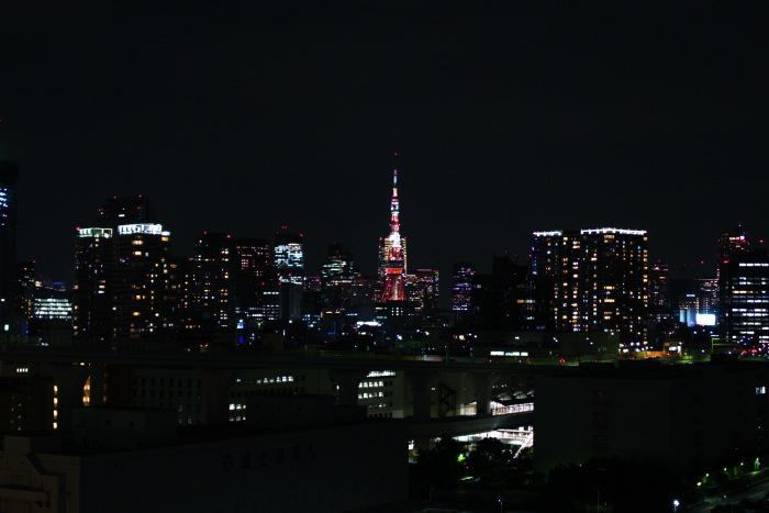 遠くから見る東京タワーもいいですね。