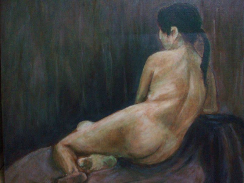 私の学生時代の習作の裸婦画