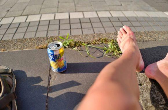 このときの私の左足はまだ傷を負っていなかった…。
