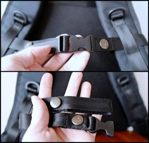 取り付け部はボタン式なのでサクッと取り外せる。