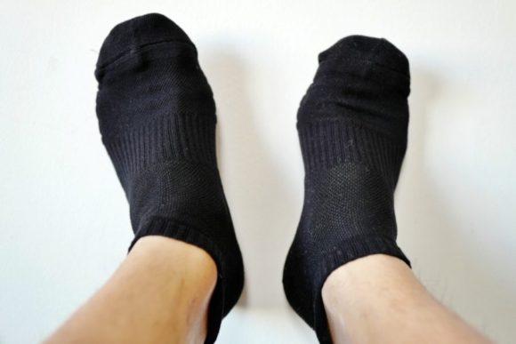 靴下のつま先の部分も厚く加工
