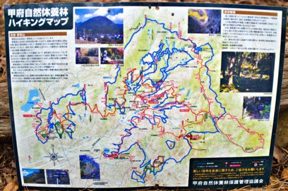 甲府のハイキングマップ