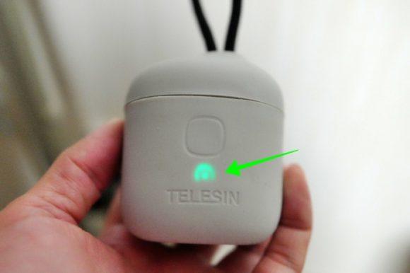 充電完了は緑ランプだ。