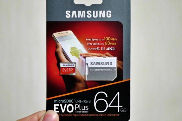 SAMSUNGのSDカード