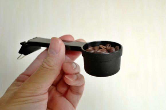 1杯分(10g)のコーヒー豆スプーン。